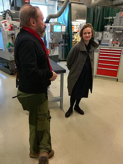 Dace Resele visiting Aalto University web